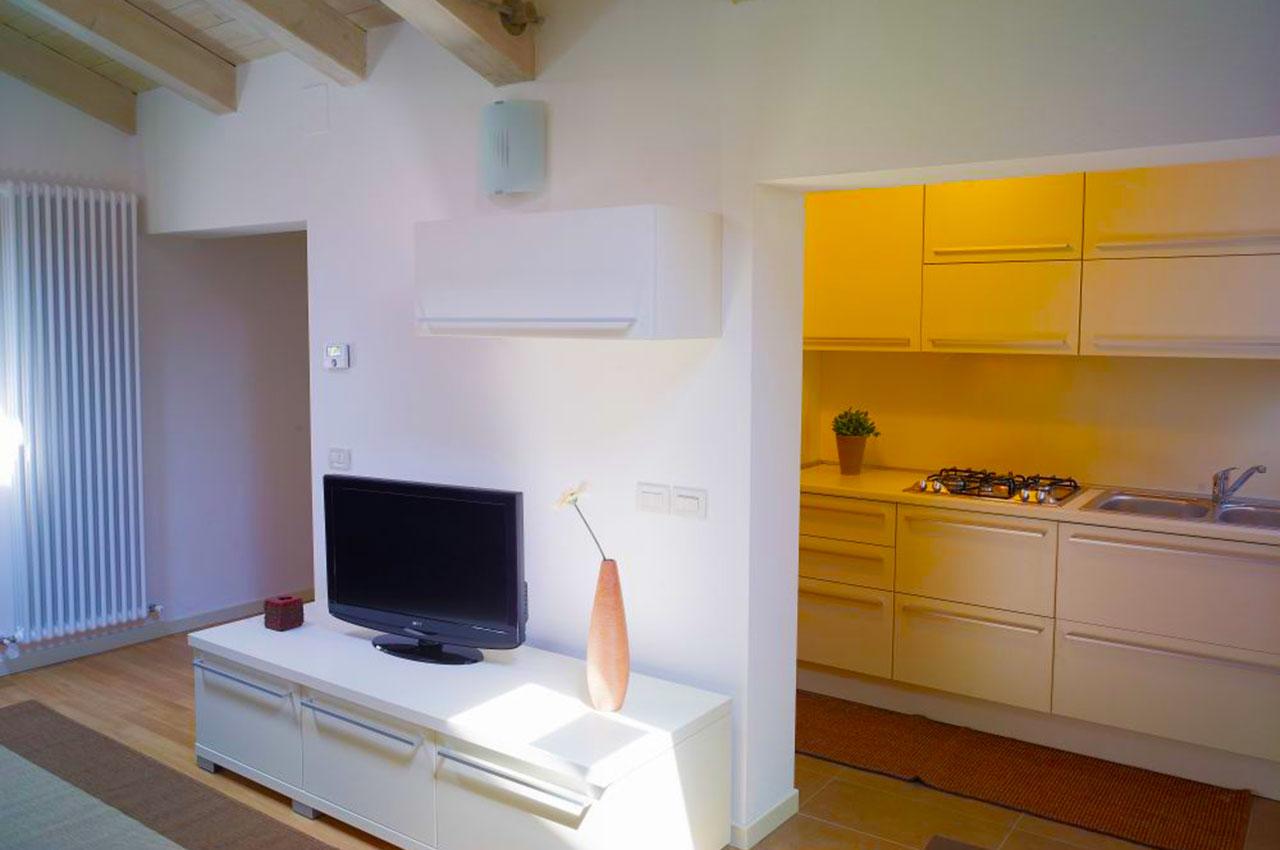 salotto cucina appartamento 203