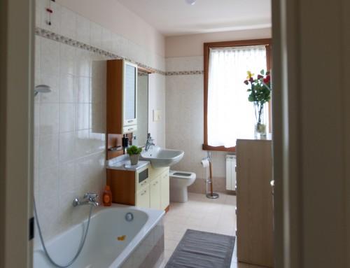 Castle view bagno con vasca