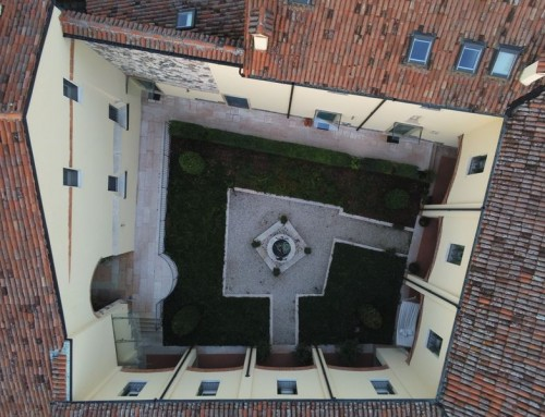 Aerial view of Roman water well