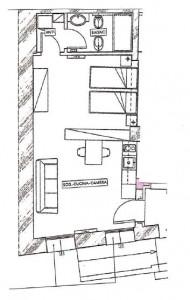 monolocale di nuova costruzione L1 planimetria