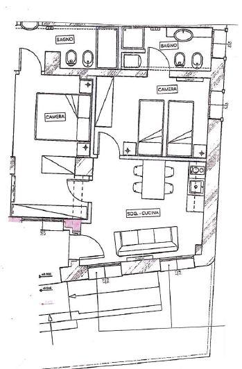 foresteria aziendale planimetria loft L2