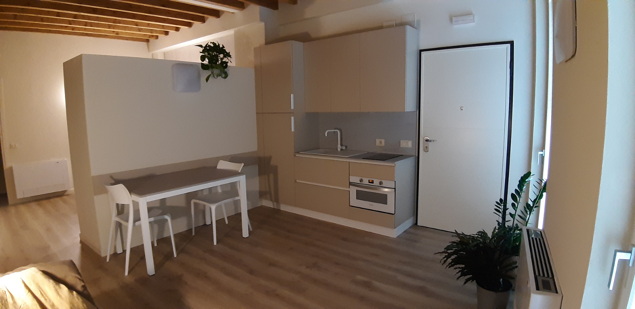 newly built studio Loft L1 kitchen
